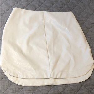 White Pleather Mini Skirt